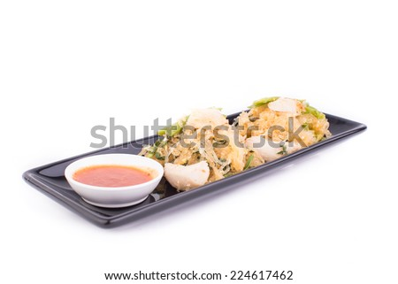 Sukiyaki in white background Isolate - stock photo