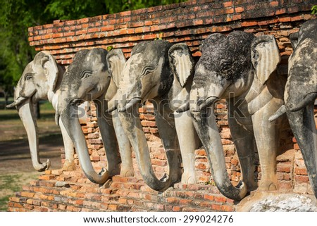 Sukothai historical park, Unesco world heritage. Chang Rop Temple ,Thailand - stock photo