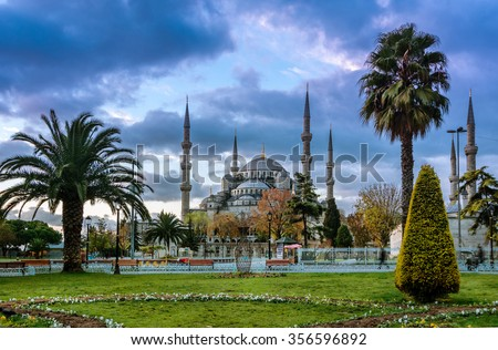 Sultan ahmed Mosque is located in the city of Istambul. It was built during the ruel of Ahmed I. It's populary known as the Blue Mosque