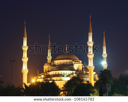 Sultan Ahmed Mosque (the Blue Mosque), Istanbul, Turkey - stock photo