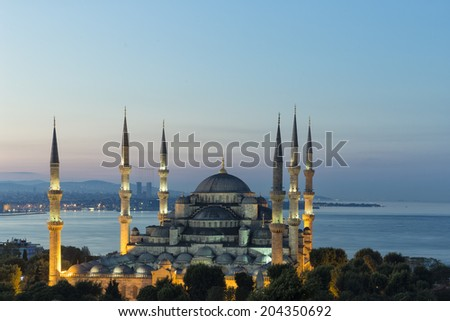 Sultan Ahmet mosque - stock photo