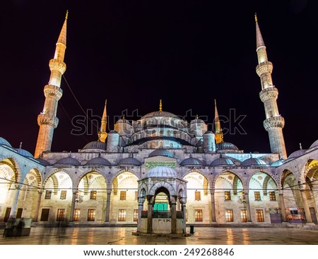 Sultan Ahmet Mosque (Blue Mosque) in Istanbul - Turkey - stock photo