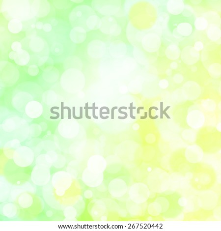 Summer abstract background. Blurred green, yellow background. - stock photo