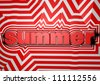 summer abstract text background - stock photo