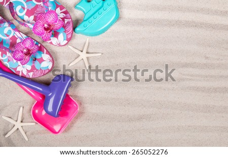 summer accessories, Summer concept - stock photo