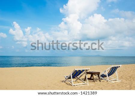 Summer at the beach Location:Sattahip, Thailand - stock photo