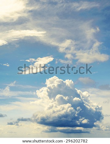 Summer background. Cloudy sky panorama - stock photo