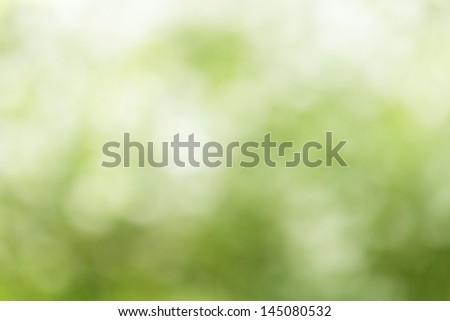 summer background from defocused lush, bokeh - stock photo