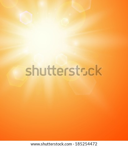 Summer background with a sun