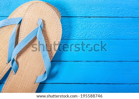 Summer Background With Summer Necessities - stock photo