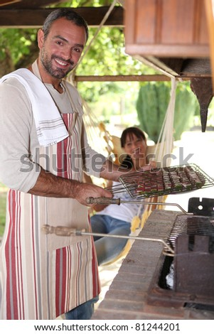 Summer barbecue - stock photo