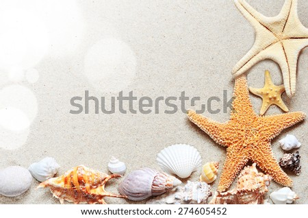 Summer beach - stock photo