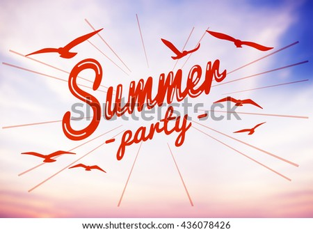 Summer Beach Holiday Vacation Summertime Concept - stock photo