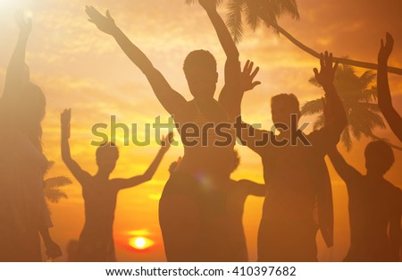 Summer Beach Party Freedom Concept - stock photo
