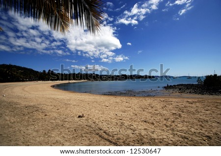 Summer Beach Scene - stock photo