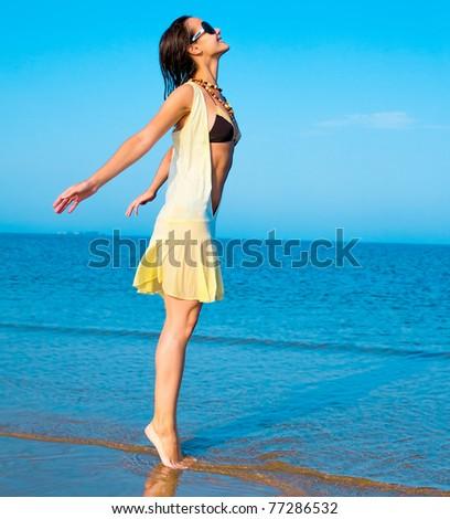 Summer Beauty Female - stock photo
