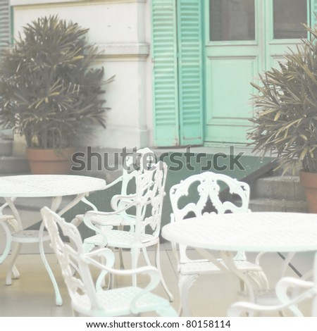 Summer cafe - stock photo