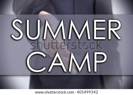 SUMMER CAMP - business concept with text - horizontal image