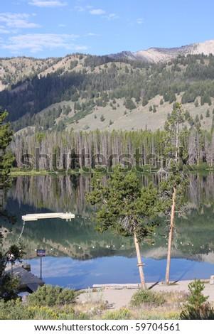 Summer camp lake - stock photo