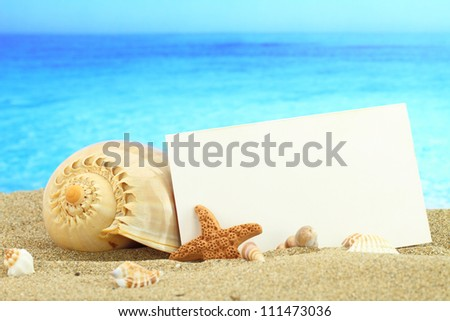 Summer card - stock photo