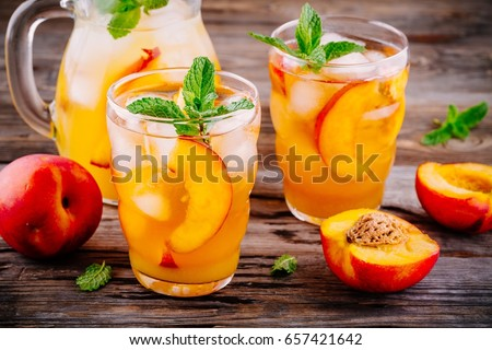 summer cold drinks homemade peach sangria stock photo edit now