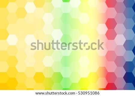 summer color geometric background of hexagon. raster copy illustration. Polygonal patterns for your presentations, business
