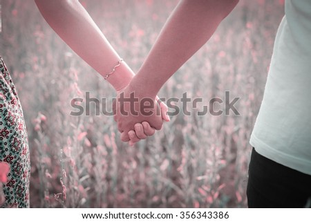 Summer colorful sunny photo happy young couple in love  outdoors, bright vintage colors - stock photo