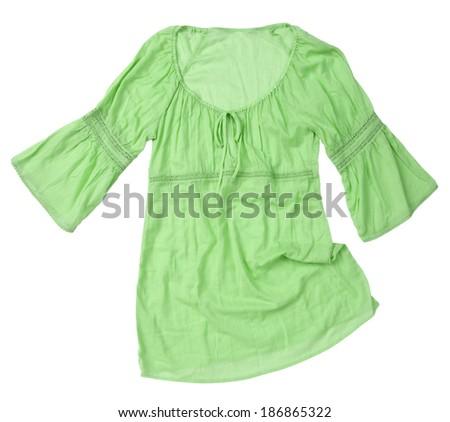summer dress isolated on white background  - stock photo