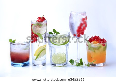 Summer drinks - stock photo