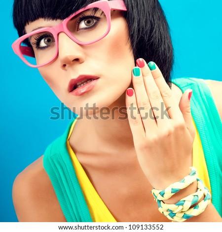 Summer fashion Girl - stock photo