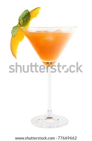 Summer fresh drink, isolated on white background - stock photo