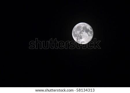 Summer full moon - stock photo