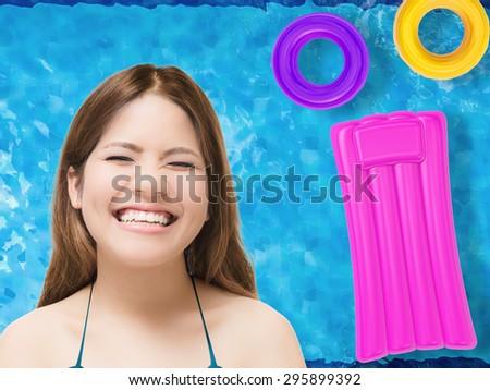 summer fun concept - stock photo