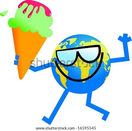 summer globe - stock photo