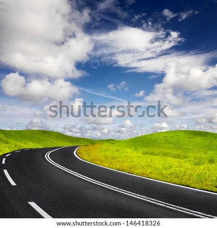 Summer Highway - stock photo