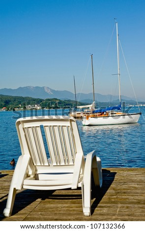 Summer holiday at Lake Woerther, Carinthia, Austria - stock photo