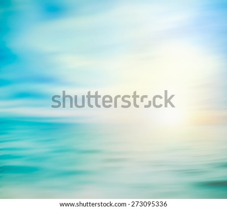 Summer holiday background. Summer ocean with sand. Beach with sea waves. - stock photo