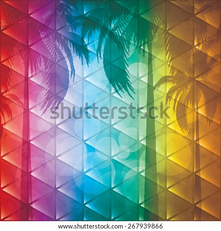 Summer holiday background.Tropical - stock photo