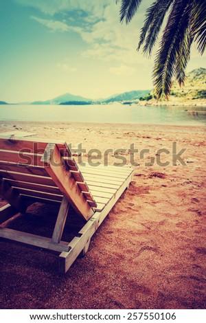 Summer holidays beach background  - stock photo