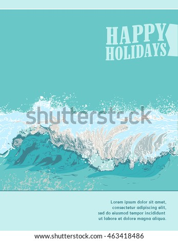 Summer Holidays Design with a wave