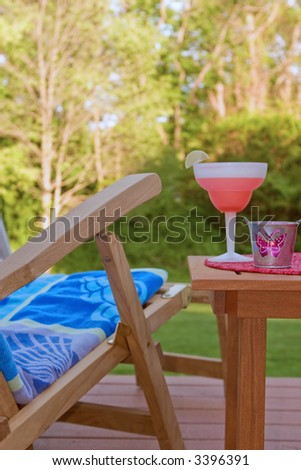 summer home scene - stock photo