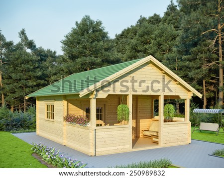 Summer house - stock photo