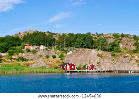 Summer house at the coast - stock photo