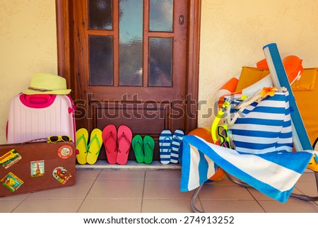 Summer house. Travel and vacation concept - stock photo