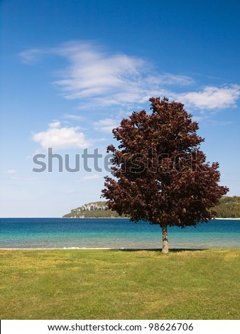 Summer in lake Huron, Lion�´s Head, Canada - stock photo
