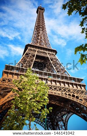 Summer in Paris - stock photo