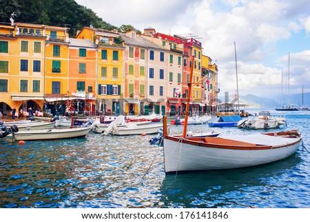Summer in Portofino, Italy - stock photo