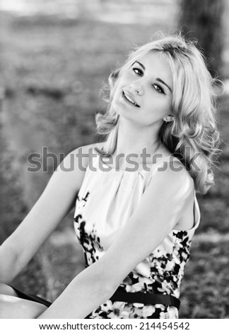 summer lady   - stock photo