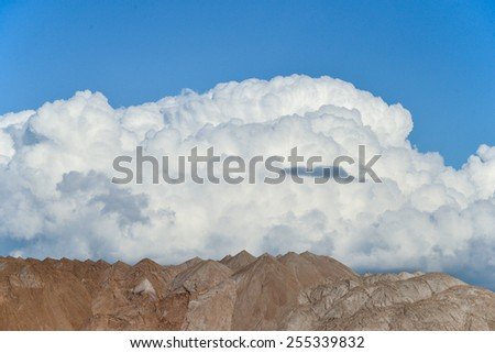 Summer landscape in the mountains.isolated on background - stock photo