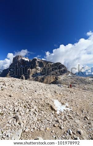 summer landscape of Cimon della Pala, San Martino di Castrozza, Italy - stock photo
